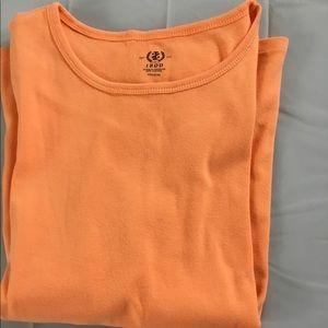 I Zod  Orange cap sleeve T shirt